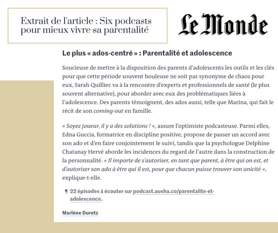 Parentalité et Adolescence - Le Monde